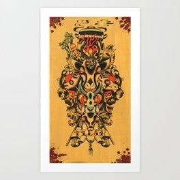 Flesh Art Print