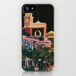 Las Vegas Strip Oil On Canvas iPhone Case
