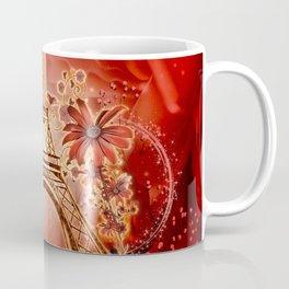 The eiffel tower with flowers Coffee Mug