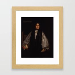 Edward Stillingfleet , Mary Beale, 1690 Framed Art Print