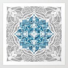 Oriental Nights Ink Blue Art Print