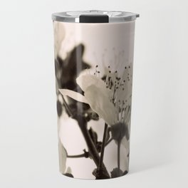 Blossoms Monochrome Travel Mug