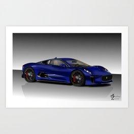 Jaguar C-X75 Concept Art Print