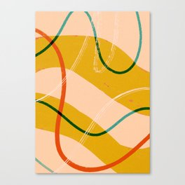 Mid-century modern abstract lines Canvas Print