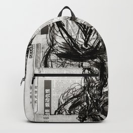 Instinctive - Charcoal on Newspaper Figure Drawing Backpack