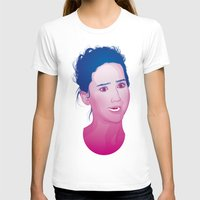jennifer lawrence T-shirts featuring Funny face: Jennifer Lawrence by Esther Cerga
