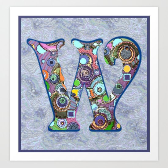 The Letter W Art Print