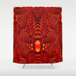 Red Copper Gems - Seamless Shower Curtain