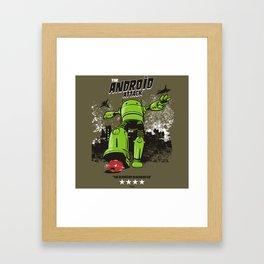 ANDROID ATTACK Framed Art Print