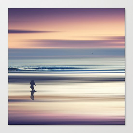 Sharing the Magic - abstract seascape at sunset Canvas Print