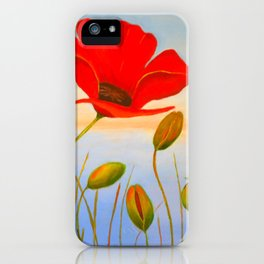 Red Poppy Sunset iPhone Case
