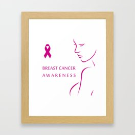 Empowering women to fight breast cancer - Breast cancer awareness Framed Art Print