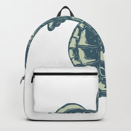 Sea Turtle Top View Scratchboard Backpack