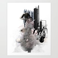 oil Art Prints featuring OIL by CITYABYSS