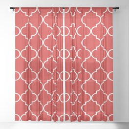 Quatrefoil - Candy Sheer Curtain