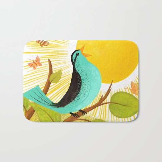 Early To Rise Bath Mat