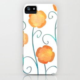 Silly Poppies iPhone Case