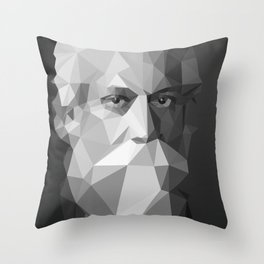 Rabindranath Tagore (7 May 1861 – 7 August 1941) Throw Pillow
