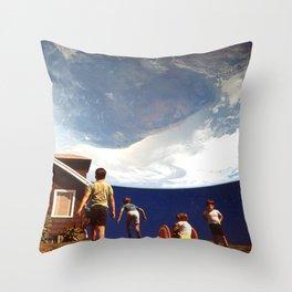 Planet Suburbia Throw Pillow