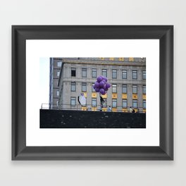 Purple balloon Framed Art Print