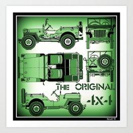 The Original 4x4 Art Print