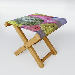 Zentangle Bubbles Folding Stool