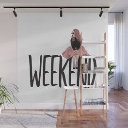 Waiting for weekend Wall Mural