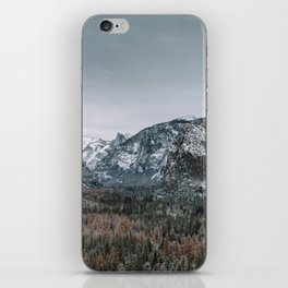 Snow at Yosemite's Tunnel View iPhone Skin