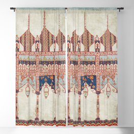 North Indian Pictorial Rug Print Blackout Curtain