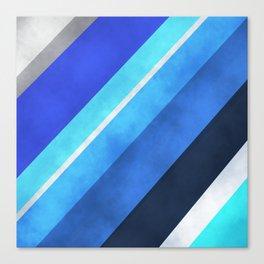 Parallel Blues Canvas Print