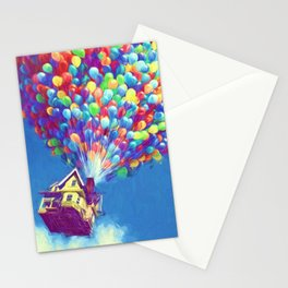 Up Balloons Stationery Cards