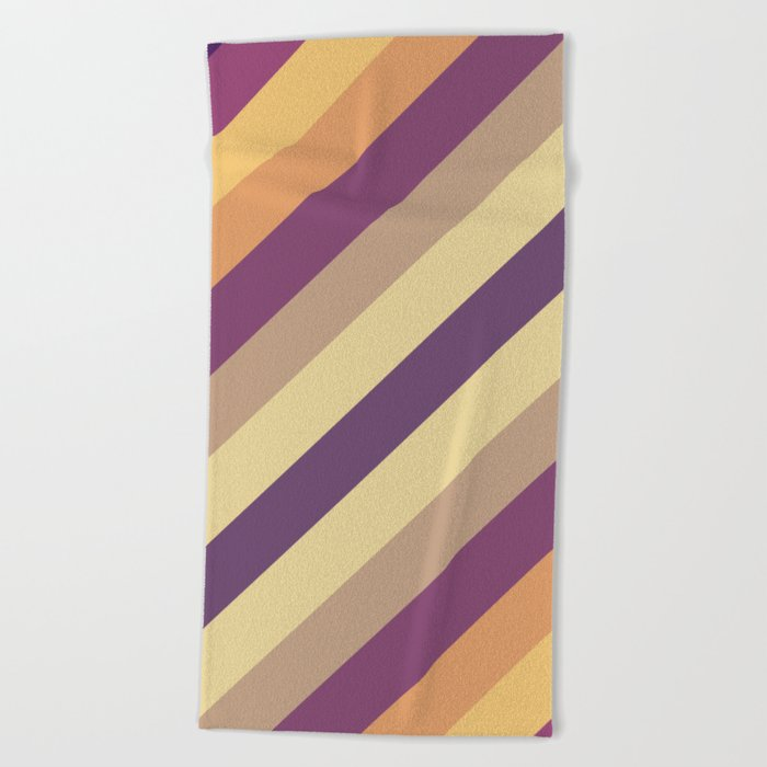 Colorful Lines Beach Towel