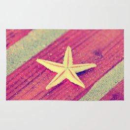 Stars and Stripes on the beach Rug