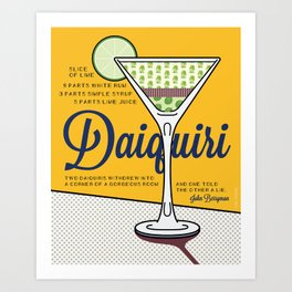 Daiquiri Print Art Print