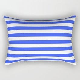 Even Horizontal Stripes, Blue and White, M Rectangular Pillow
