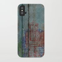 army iPhone & iPod Cases featuring Robot army by Ale Ibanez