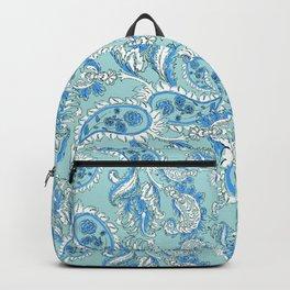 Blue Paisley Backpack