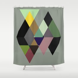Abstract #729 Shower Curtain
