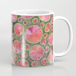 Big Red Circles Pattern Coffee Mug
