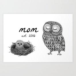 Baby shower gift - MOM MUG Art Print