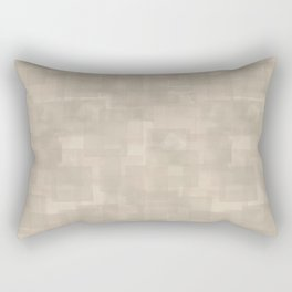 Neutral Brown Squares Abstract Pattern Rectangular Pillow