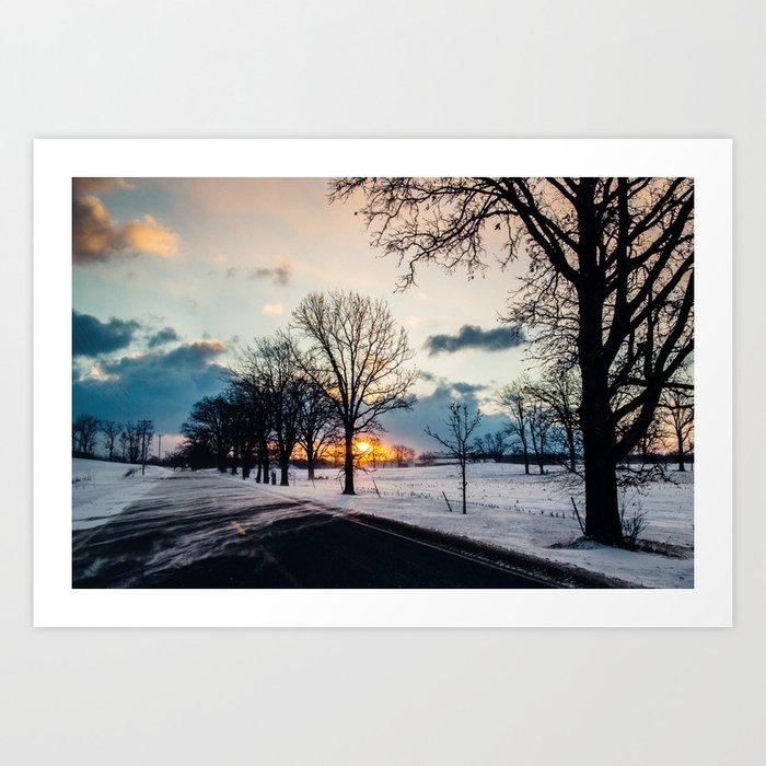 Wind-Blown Sunrise Art Print