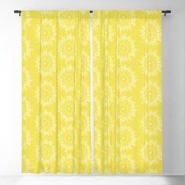 Abstract Gumnut Flowers in Pantone Illuminating Blackout Curtain