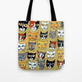 25 Cat Heads Tote Bag