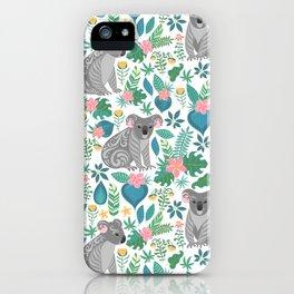 Floral Koala iPhone Case