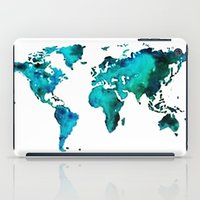 world maps iPad Cases featuring maps by StraySheep