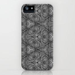 Gray Swirl Pattern iPhone Case