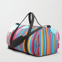 Colorful Rainbow Pipes Duffle Bag