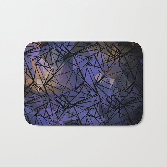 Polygon mesh . Blue . Bath Mat