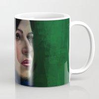 regina mills Mugs featuring Regina Mills by LindaMarieAnson